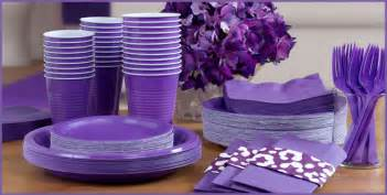 purple tableware purple supplies city