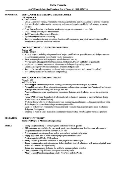 sample resume format forma in mechanical engineering latest best
