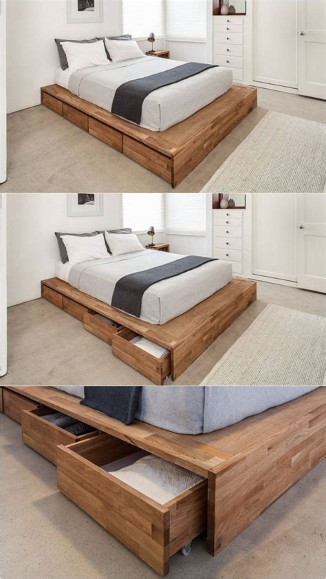 rolling bed frame best 25 storage beds ideas on bed furniture