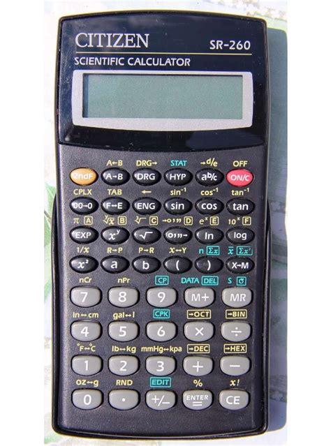 calculator citizen calculators citizen sr260 ngr pu series scientific