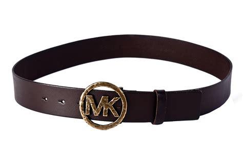 michael kors s mk signature logo buckle genuine