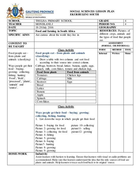 lesson plan template ireland social sciences lesson plan