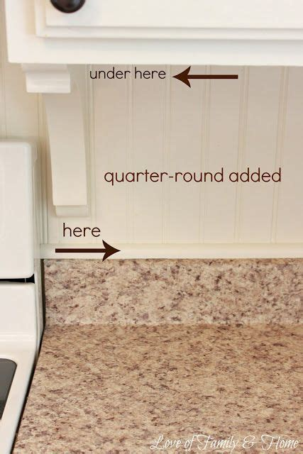 quarter round kitchen cabinets painted cabinets beadboard backsplash corbels and