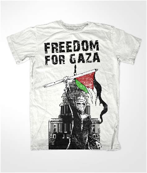 T Shirt Freedom For Gaza freedom for gaza muslim white t shirt 163 12 99
