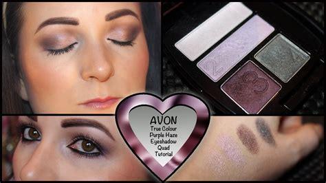eyeshadow quad tutorial avon purple eye shadow tutorial with avon true colour