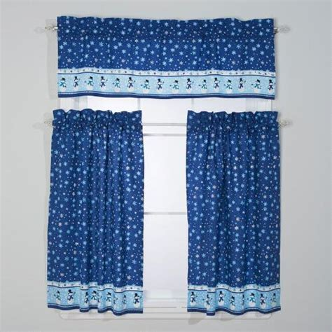 blue snowman window valance set tree shops