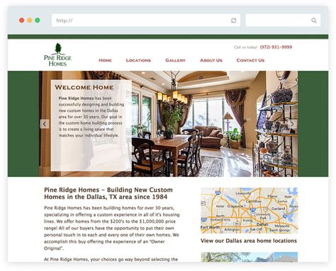 home builder website design in frisco tx pine ridge