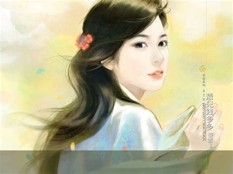 new chinese girls painting pure innocent girl beautiful chinese girl painting