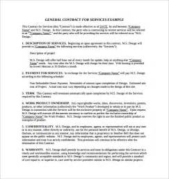 Free Service Agreement Contract Template by Service Contract Template 5 Free Documents In