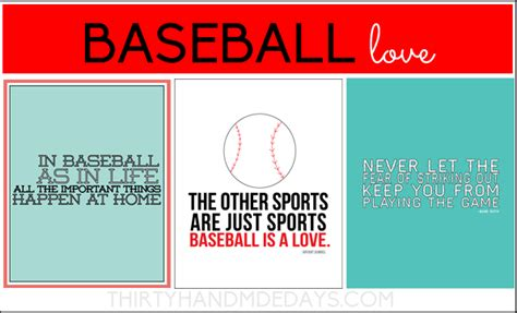 printable baseball quotes baseball is life includes 3 printables