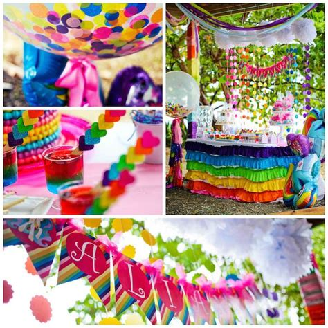 little decorations kara s party ideas my little pony rainbow birthday party