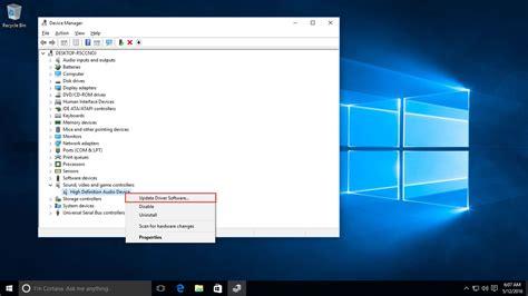 install windows 10 audio driver how to install or update windows 10 drivers windowschimp