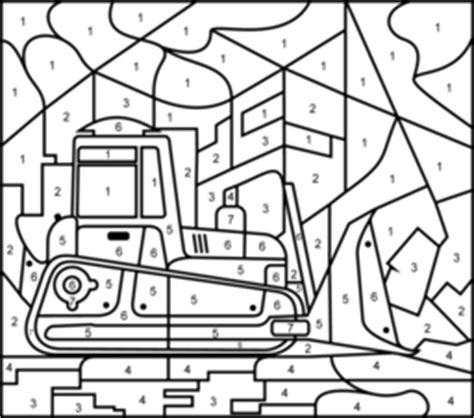 truck color by number coloring pages vehicles coloring pages