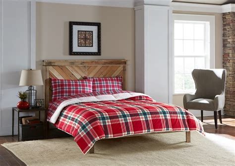 red plaid comforters cannon down alternative comforter red plaid home bed