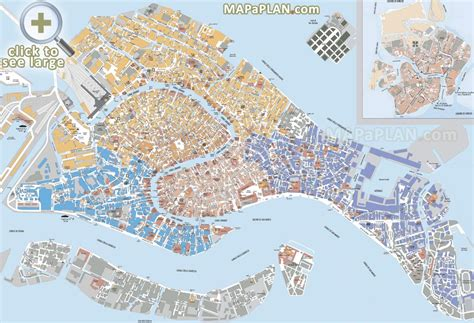 venice maps top tourist attractions  printable