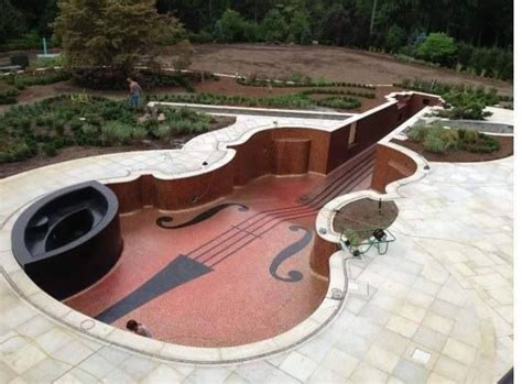 guitar shaped swimming pool guitar shaped pool odds and ends pinterest