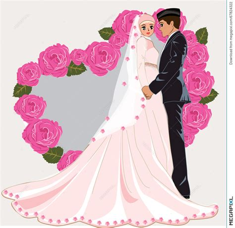 Muslim Wedding Clipart by Muslimah Wedding Www Pixshark Images