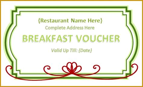 free meal coupon template meal voucher template free 02517 free lunch