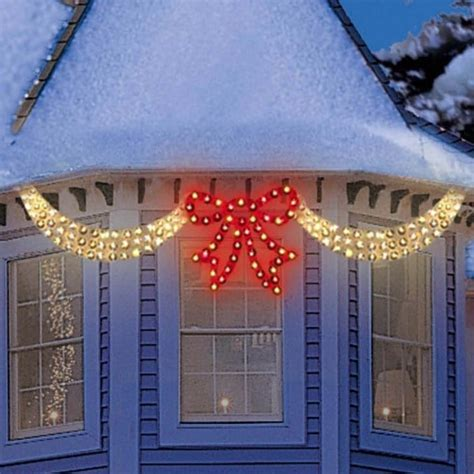 christmas led swag lights with bows 3d dazzling swag ribbon bow lights northern lights and trees