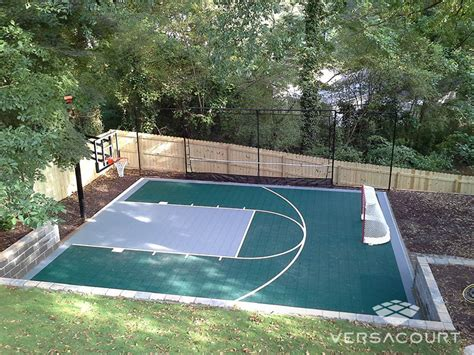 sports courts for backyards versacourt indoor outdoor backyard basketball courts