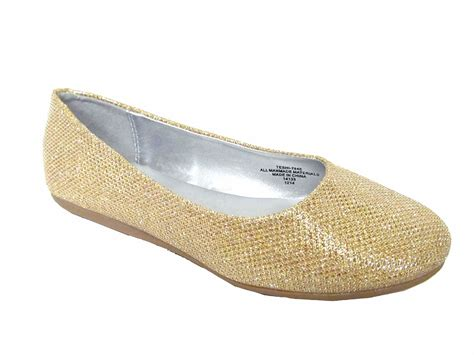 flat shoes gold gold glitter flat shoes