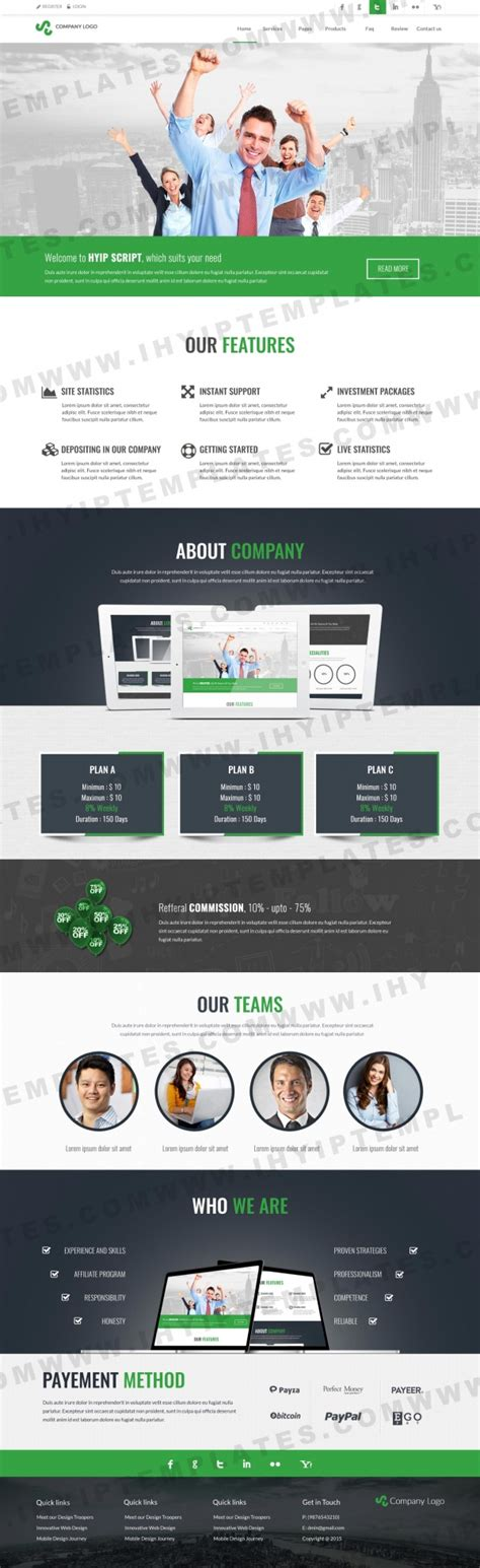 best hyip best hyip templates will help you to stand on the top