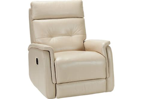 House Of Recliners by Home Adelino Taupe Leather Recliner