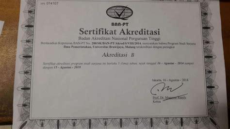 Bukti Akreditasi Jurusan Cpns 2017 by Fisip En Status Accreditation Certificate Id