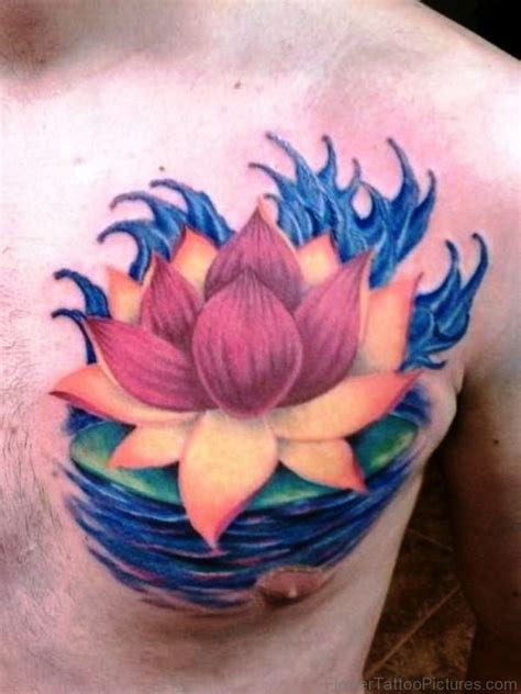 tattoo chest lotus 46 best lotus flower tattoos on chest