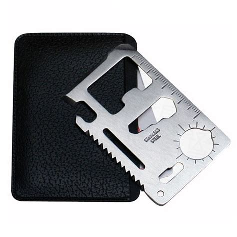 Solid Wallet Edc 11 In1 Multi Purpose Self Defense Se Diskon solid wallet edc 11 in1 multi purpose credit card sized pocket tool silver jakartanotebook