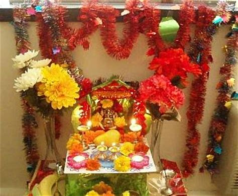 decoration for ganesh festival at home decoration for ganesh chaturthi at home mandap ideas