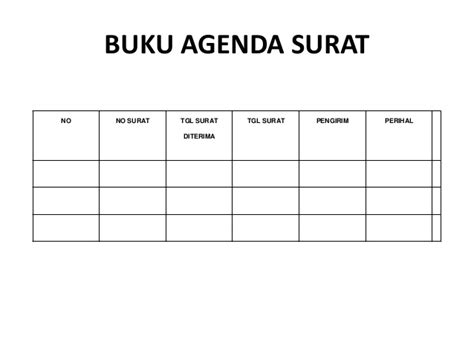 Agenda Surat Dan Notulis Surat by Contoh Administrasi Osis