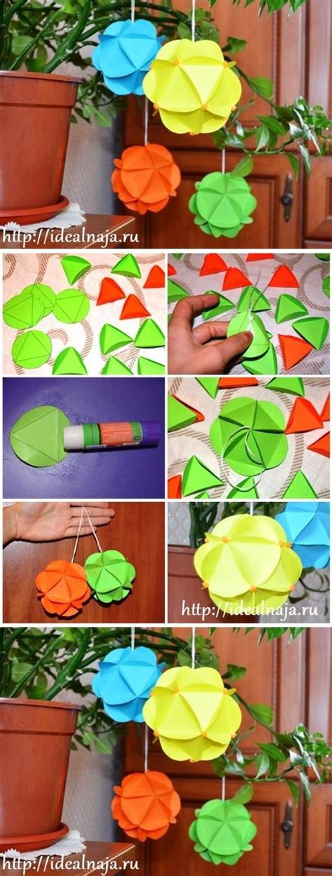 How To Make Paper Ornaments Step By Step - how to make paper craft ornaments step by step diy