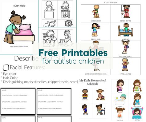 Free Printable Worksheets For Autistic Children by Free Printables For Autistic Children And Their Families