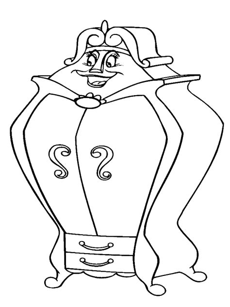 mrs potts coloring page my first abc