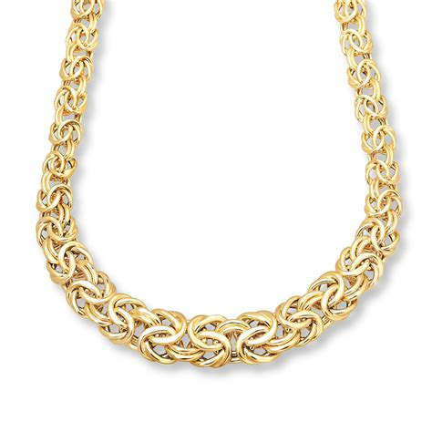 byzantine necklace 14k yellow gold 17 inch length