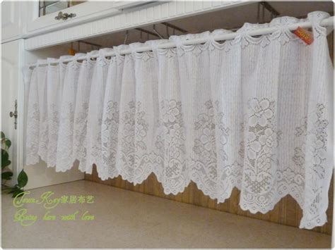 white lace crochet kitchen cafe curtain p style ebay