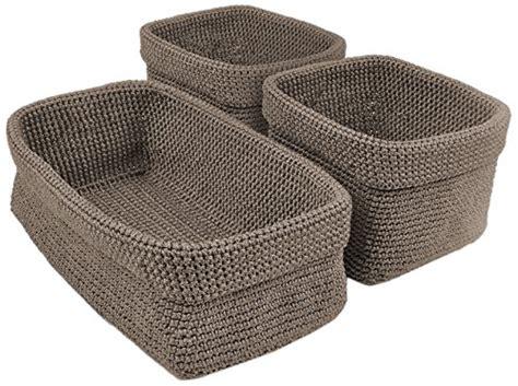 dii home essentials crocheted storage baskets for