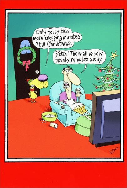 minute shopping funny humorous christmas card  nobleworks