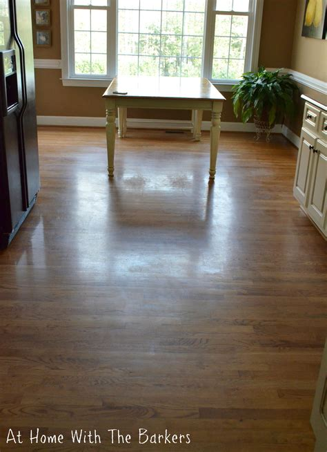 cleaning dull hardwood floors at home with the barkers