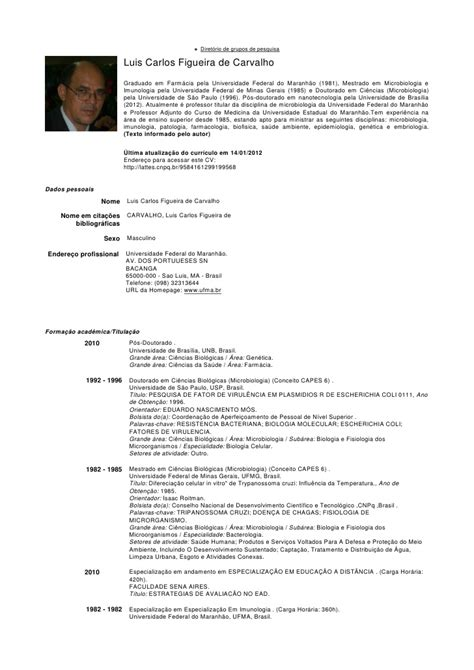 Modelo Curriculum Quimico Farmaceutico Cv Lcarlos 2012
