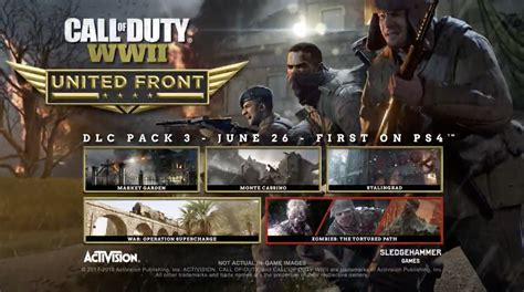 Call Of Duty 26 call of duty wwii united front dlc pack 3 available june