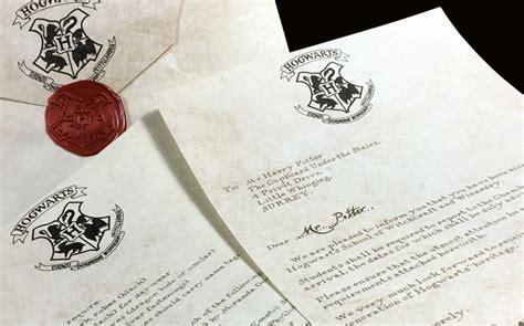 Authentic Harry Potter Acceptance Letter Hogwarts Acceptance Letter Non Customize Shazelle Avenue