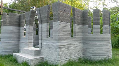 3d print house man 3d prints castle in back garden using concrete printer