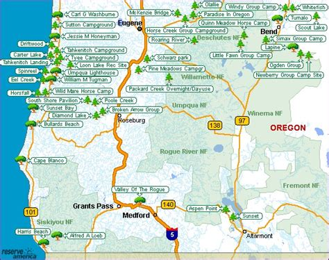 map of oregon parks oregon csites oregon national parks oregon state