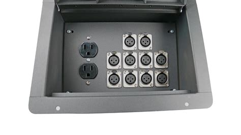 100 floors stage 55 elite fbl10 ac recessed floor box with 10 xlrf