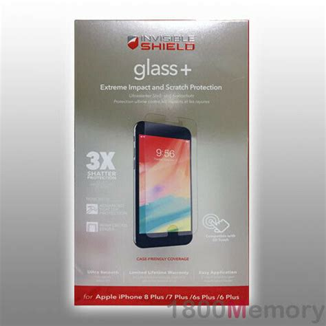 zagg invisible shield tempered glass screen protector  iphone     ebay