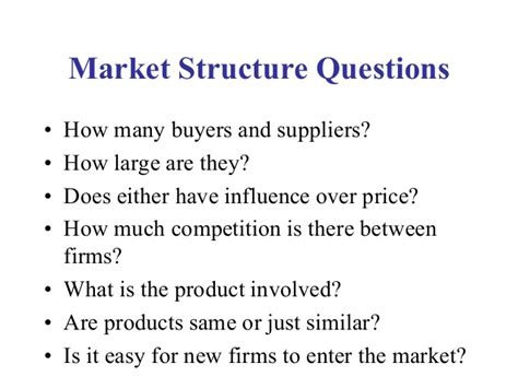 How Easy Is The Mba Market by Mba 1 Me U 2 3 Market Structure Additional
