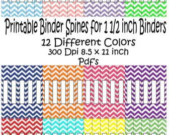 Popular Items For Spine On Etsy 1 1 2 Binder Spine Template