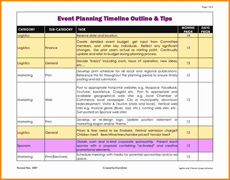 8 Free Event Planning Checklist Template Excel Exceltemplates Exceltemplates Conference Planning Template Excel